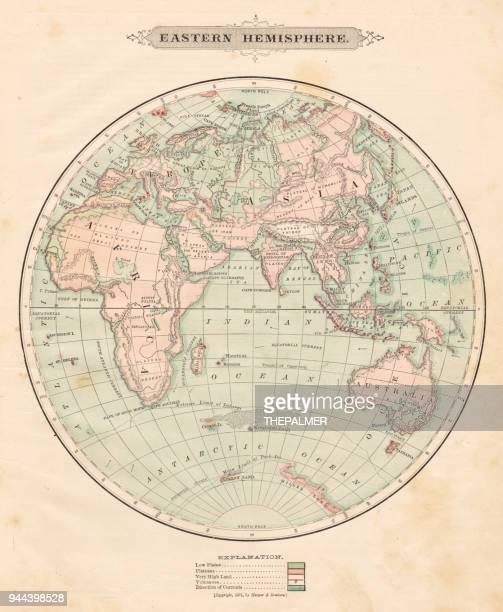 Eastern hemisphere map 1881