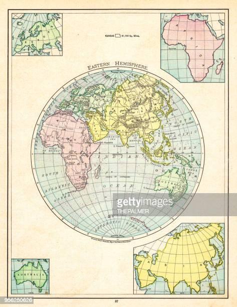 Eastern Hemisphere map 1895