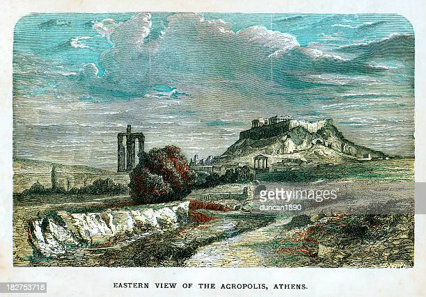 Eastern view of the Acropolis Athens
