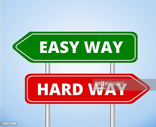 Easy Way vs Hard Way