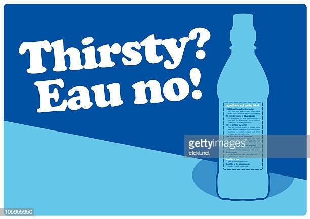 eau no! ditch the water bottle! - plastic stock illustrations