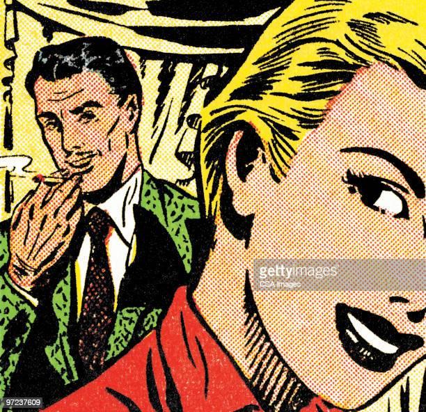 eavesdropping - unhealthy living stock illustrations, clip art, cartoons, & icons