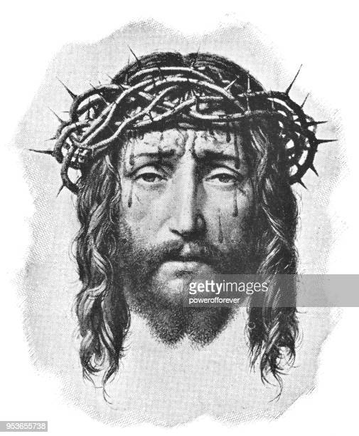 ecce homo by franz ittenbach - 19th century - jesus christ stock illustrations, clip art, cartoons, & icons