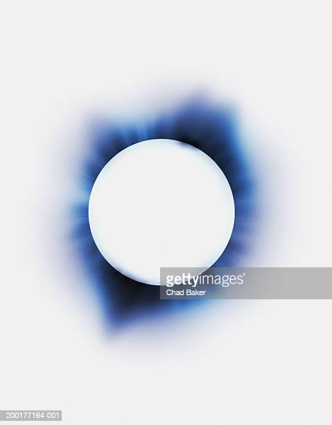 eclipse (digital) - digital enhancement stock illustrations