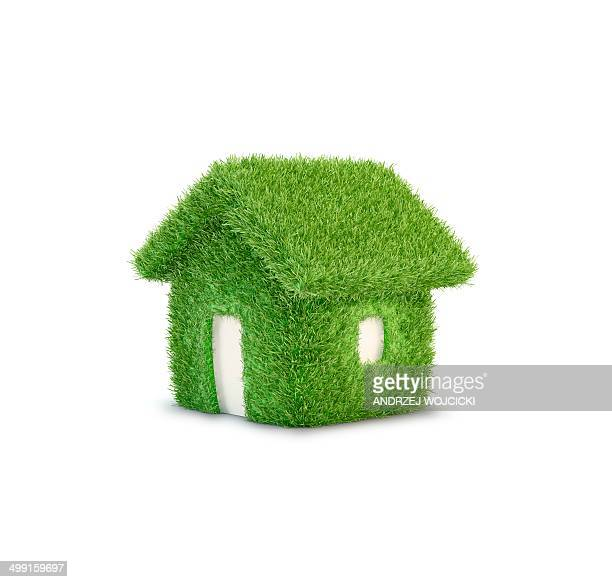 eco home, artwork, artwork - residential building stock illustrations