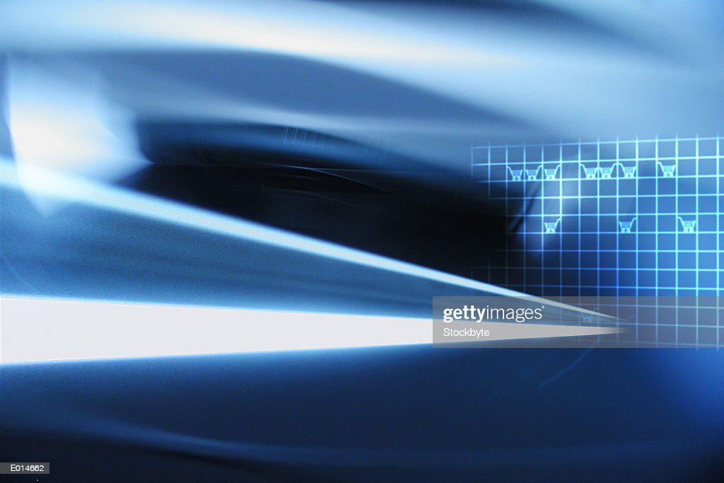 E-commerce blue abstract : stock illustration