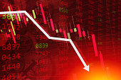economic crisis stock chart falling down business global money bankruptcy concept