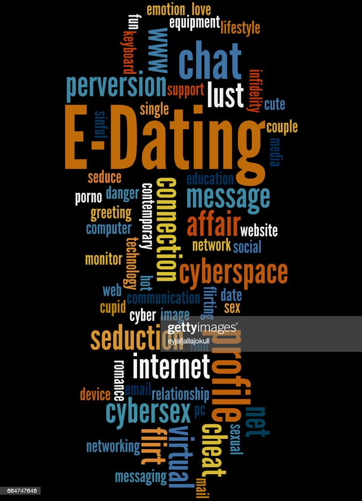 Dating-Wort Wolke