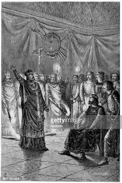 Edmund Rich, Archbishop of Canterbury threatens to excommunicate Henry III