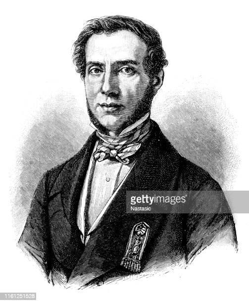 edouard drouyn de lhuys (1805-1881), french politician and diplomat - statesman stock illustrations
