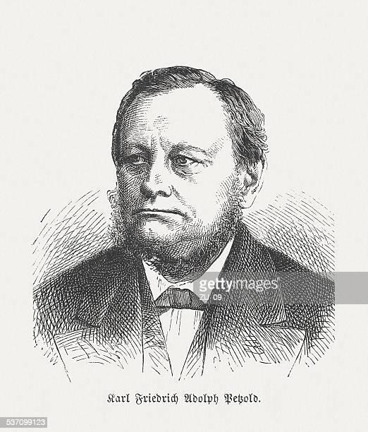 eduard petzold, (1815-1891), german garden designer, wood engraving, published 1882 - landscape gardener stock illustrations, clip art, cartoons, & icons