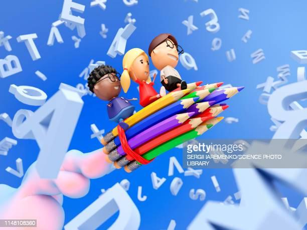 education, conceptual illustration - message stock illustrations