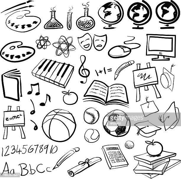 education icons - sports hall stock illustrations