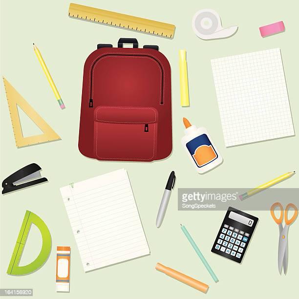 education school supplies - protractor stock illustrations, clip art, cartoons, & icons