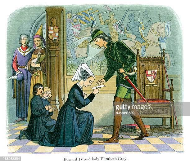 Edward IV and  Lady Elizabeth Grey