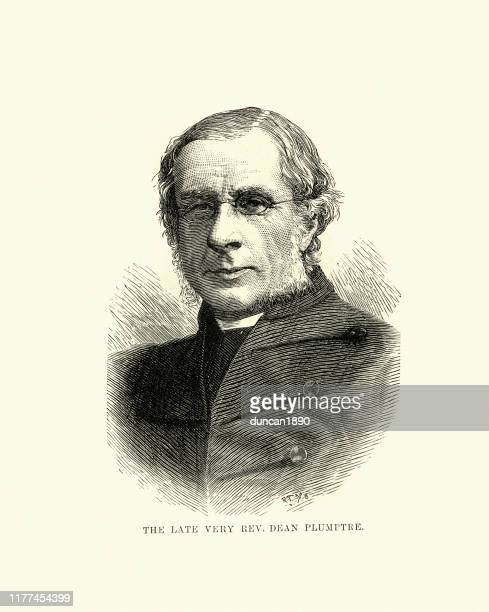 edward plumptre, victorian english divine and scholar 19th century - anglican stock illustrations