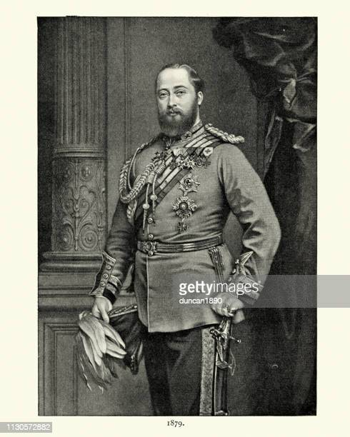 edward vii, as prince of wales, 1879 - edward vii stock illustrations