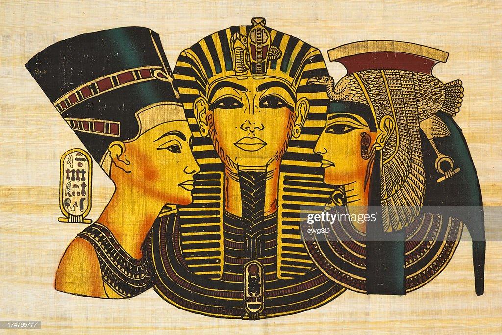 Egyptian ancient papyrus : Stock Illustration