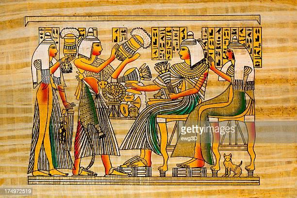 Egipcio antiguo papiro