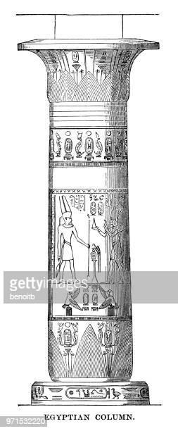 illustrations, cliparts, dessins animés et icônes de colonne d'égypte - hiéroglyphe