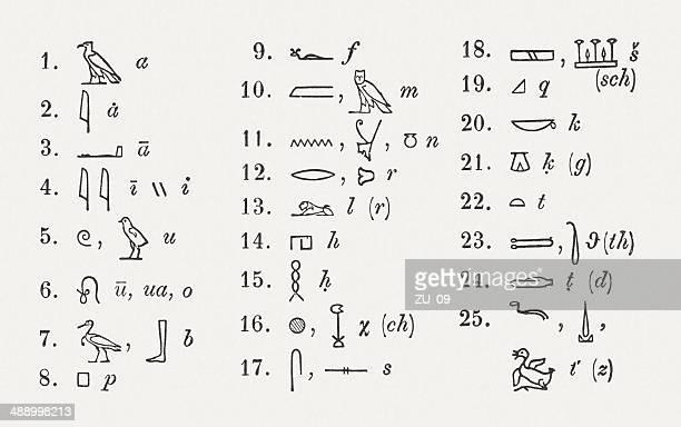ilustrações, clipart, desenhos animados e ícones de hieróglifos - cultura egípcia