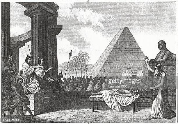 egyptian history engraving - the sphinx stock illustrations, clip art, cartoons, & icons