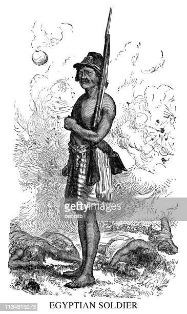 egyptian soldier - north african ethnicity stock illustrations, clip art, cartoons, & icons
