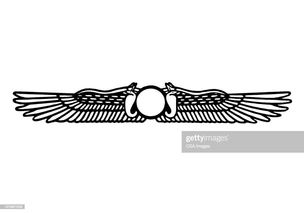 Egyptian Style Wings Stock Illustration Getty Images