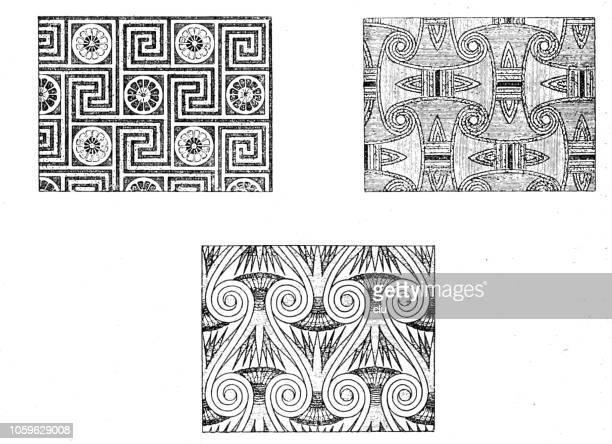 Egyptian textile patterns