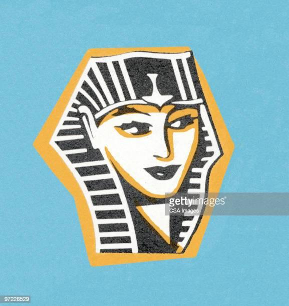 egyptian woman - ruler stock illustrations