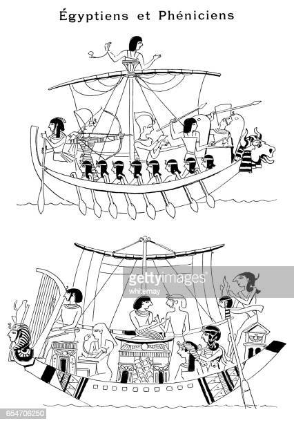 egyptians and phoenicians - north african ethnicity stock illustrations, clip art, cartoons, & icons