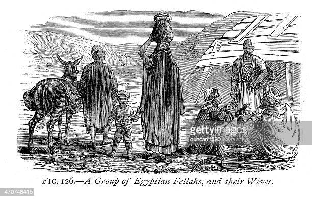 Egytian Fellahs and their Wives