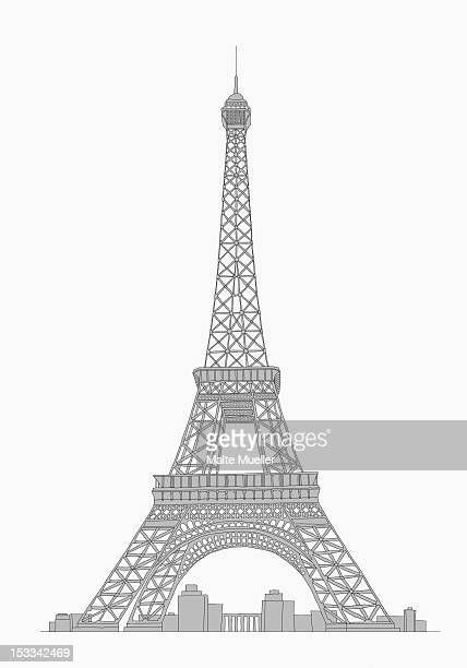 eifel tower - france stock illustrations