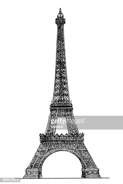 Eiffel tower engraving