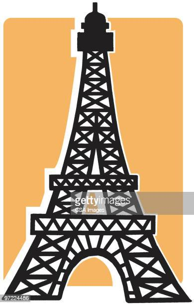 eiffel tower - france stock illustrations