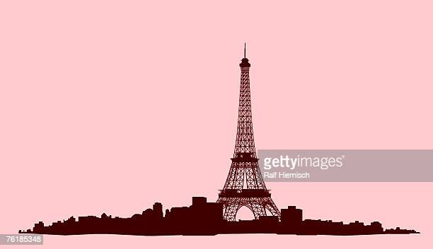 eiffel tower, paris, france - france stock illustrations