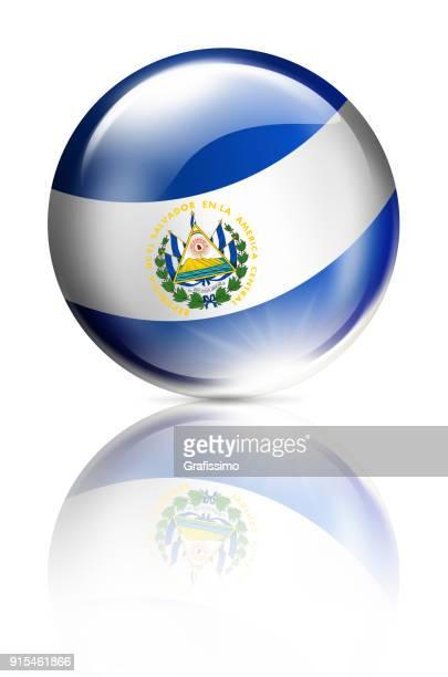 白で隔離エルサルバドル ボタン ボール エルサルバドルの国旗 - エルサルバドル国旗点のイラスト素材/クリップアート素材/マンガ素材/アイコン素材
