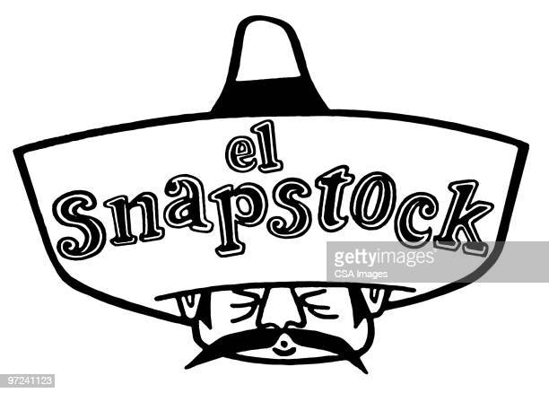 el snapstock - sombrero stock illustrations