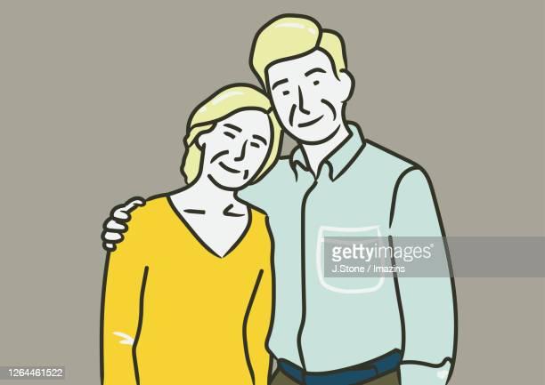 elderly couple - 年配のカップル点のイラスト素材/クリップアート素材/マンガ素材/アイコン素材