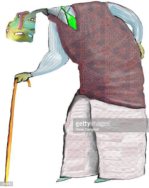Elderly Person with Cane