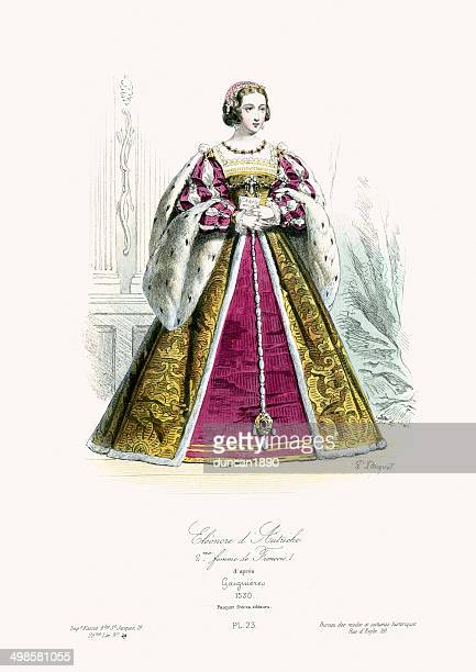 eleanor of austria - 16th century style stock illustrations, clip art, cartoons, & icons
