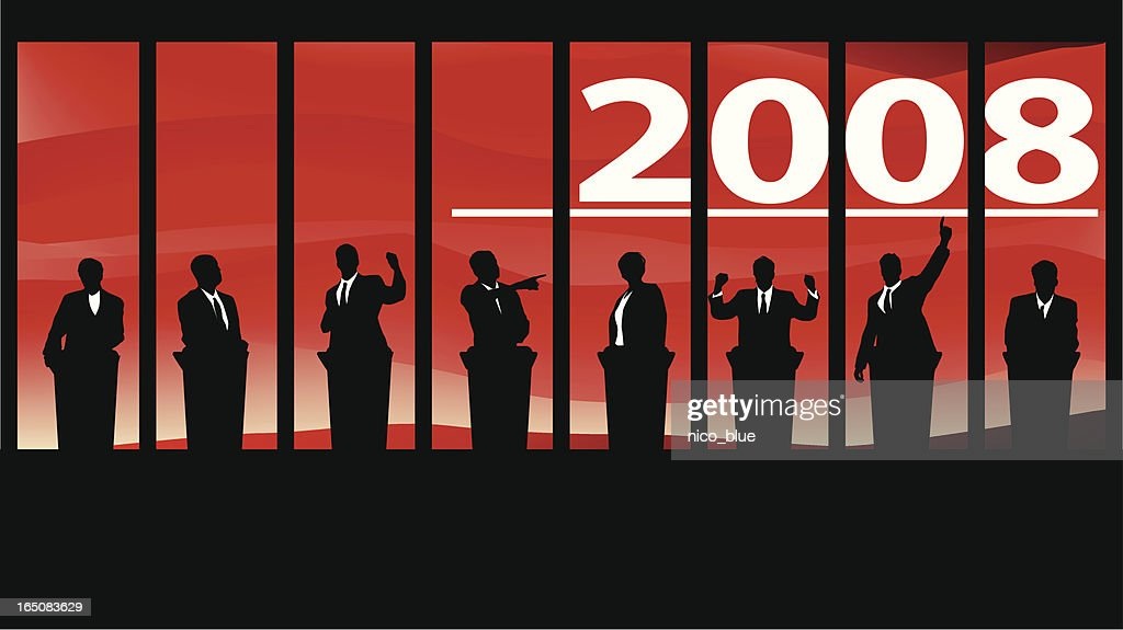 Election 2008 - debates : stock illustration
