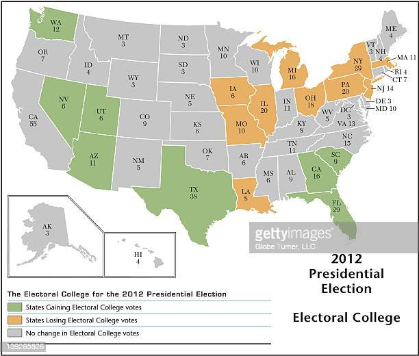 2012 electoral college map - 選挙人団点のイラスト素材/クリップアート素材/マンガ素材/アイコン素材