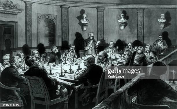 選挙管理委員会が秘密会議を開催 - 1870~1879年点のイラスト素材/クリップアート素材/マンガ素材/アイコン素材