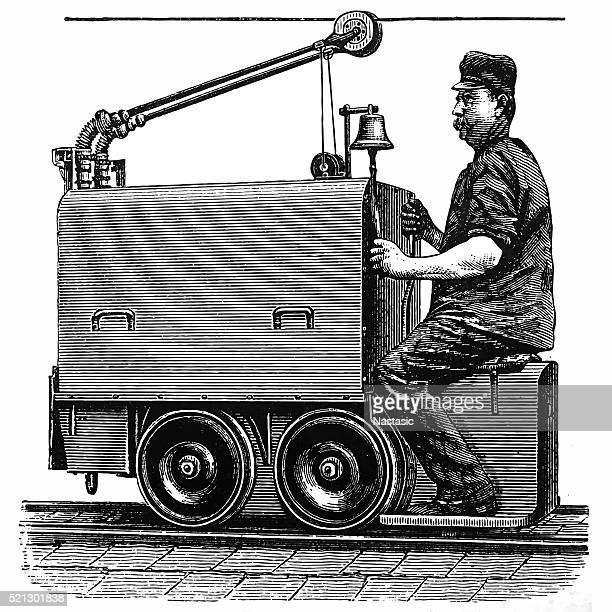 Electric mine locomotive