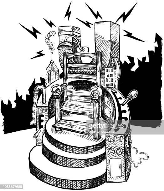 Electric steampunk chair, vintage