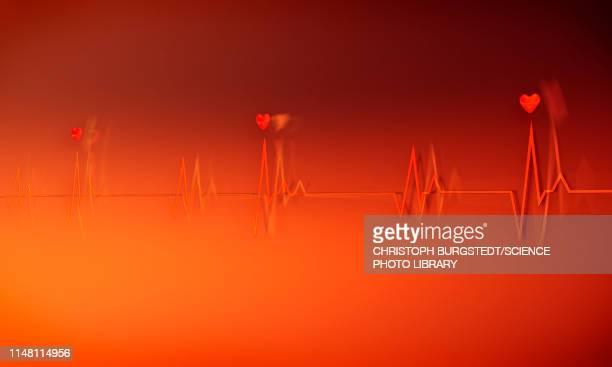electrocardiogram, illustration - graph stock illustrations