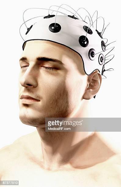 illustrazioni stock, clip art, cartoni animati e icone di tendenza di electroencephalography - images