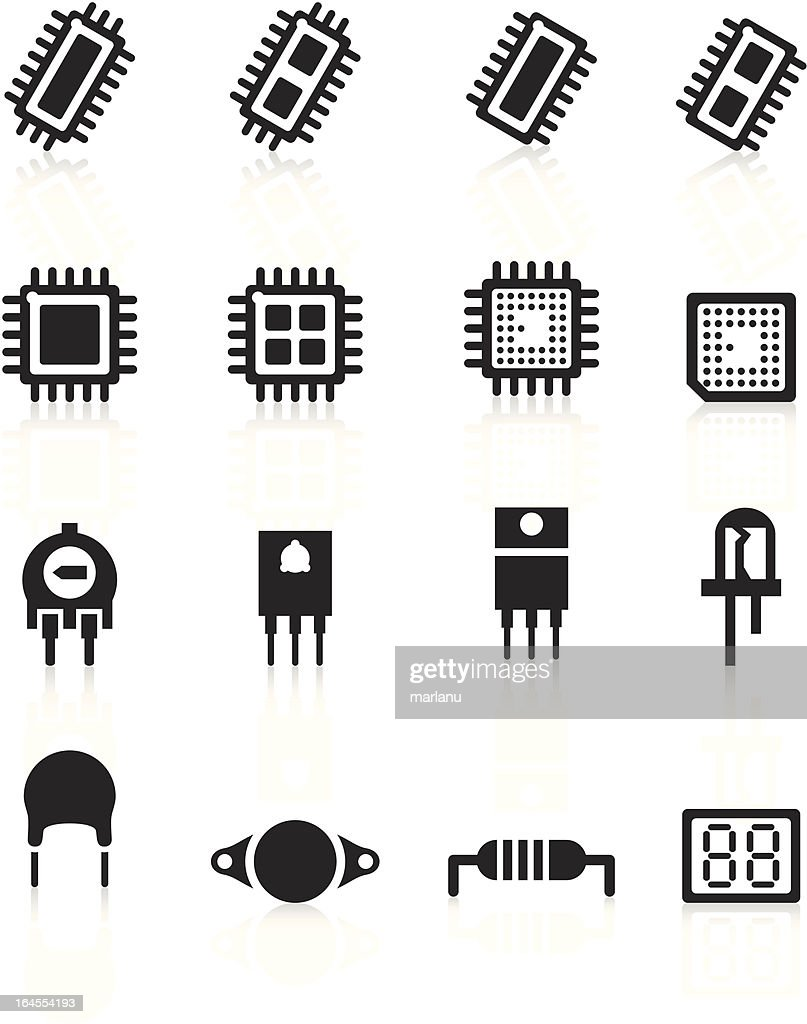 Electronic component Icons - Black Series