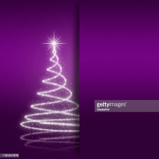 ilustraciones, imágenes clip art, dibujos animados e iconos de stock de elegante tarjeta de felicitación de navidad - galaxiaespiral